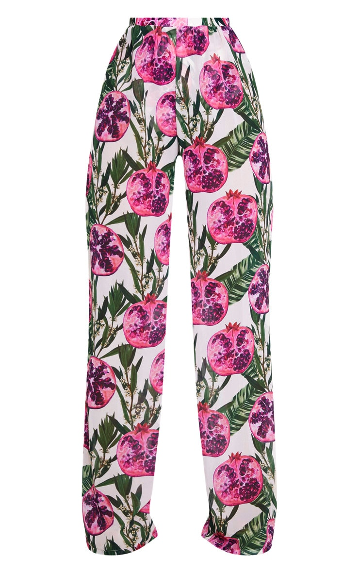 Pink Pomegranate Wide Leg Trousers 3