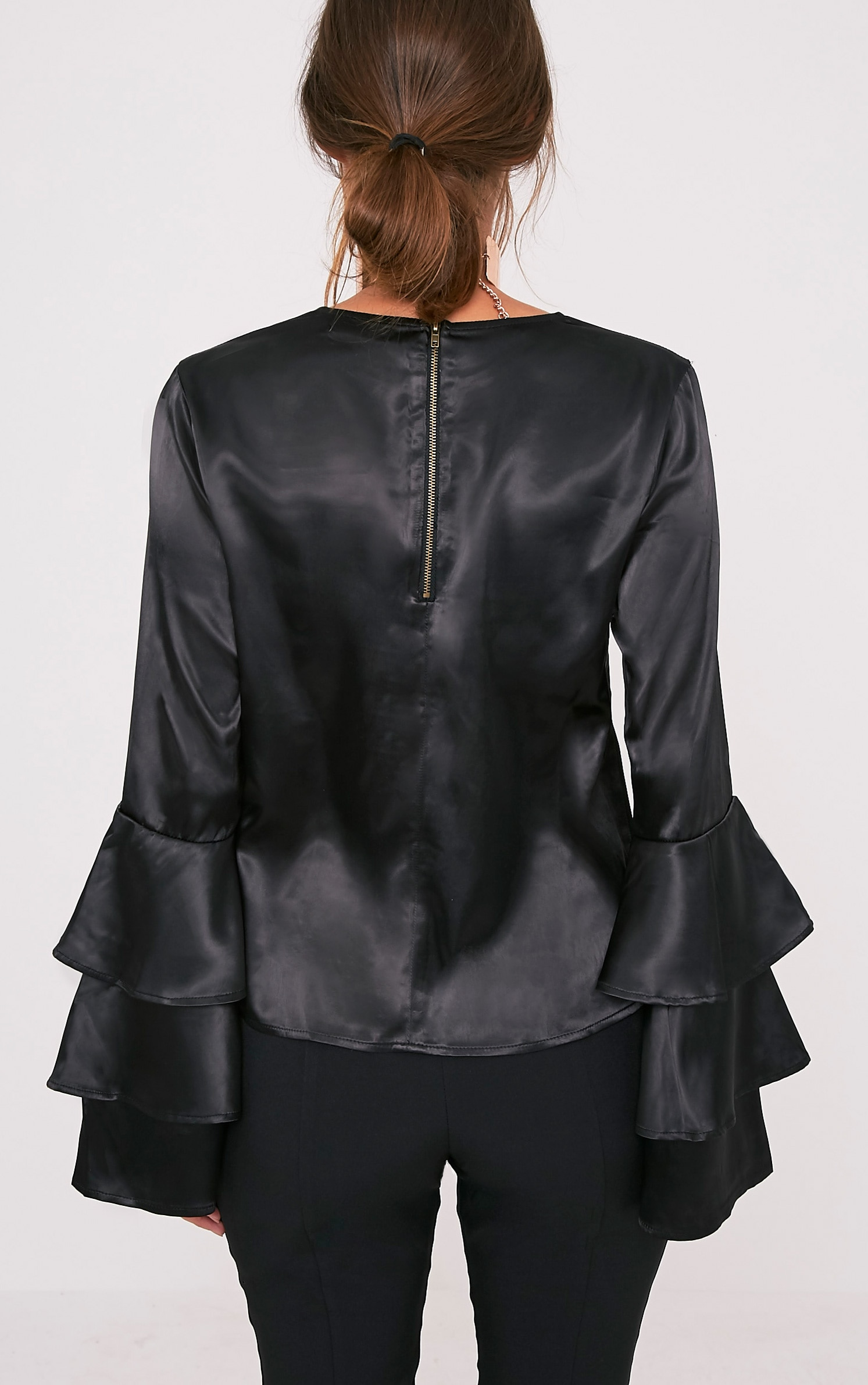 Layle Black Frill Sleeve Woven Blouse 2