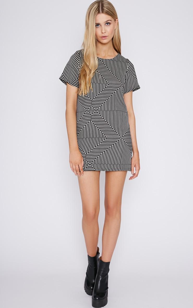 Philo Monochrome Print Shift Dress 5