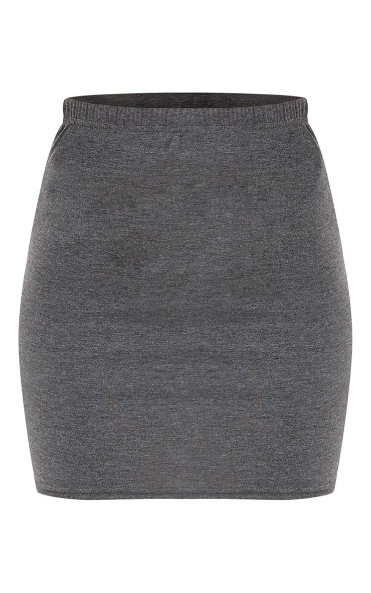 Charcoal Basic Mini Skirt 3