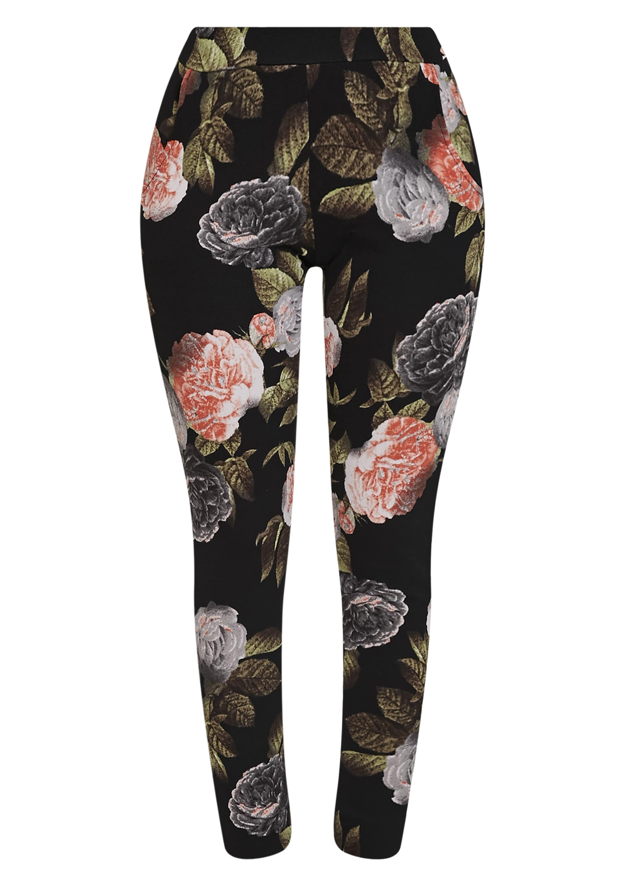 Charleze Black Floral Trousers 3