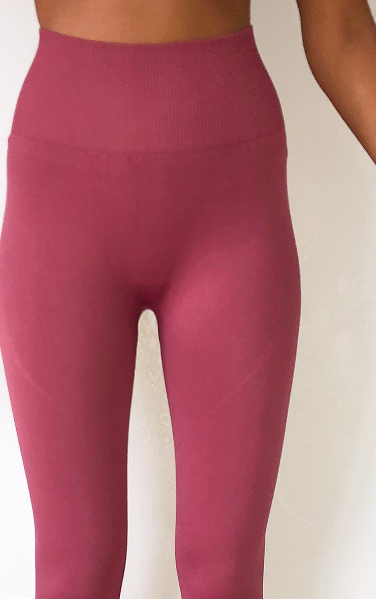 Rose High Waist Seamless Gym Leggings 4