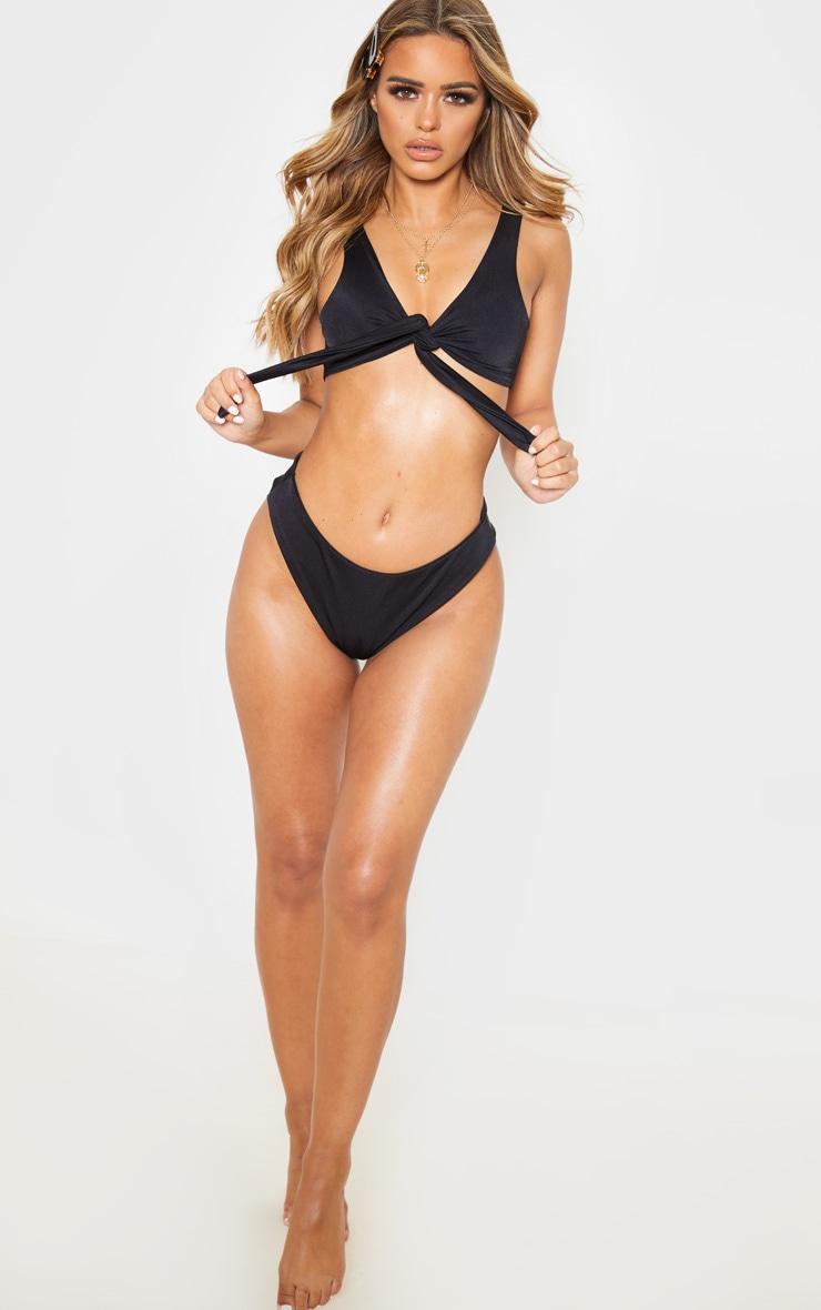 Petite Black High Leg Bikini Bottom 5