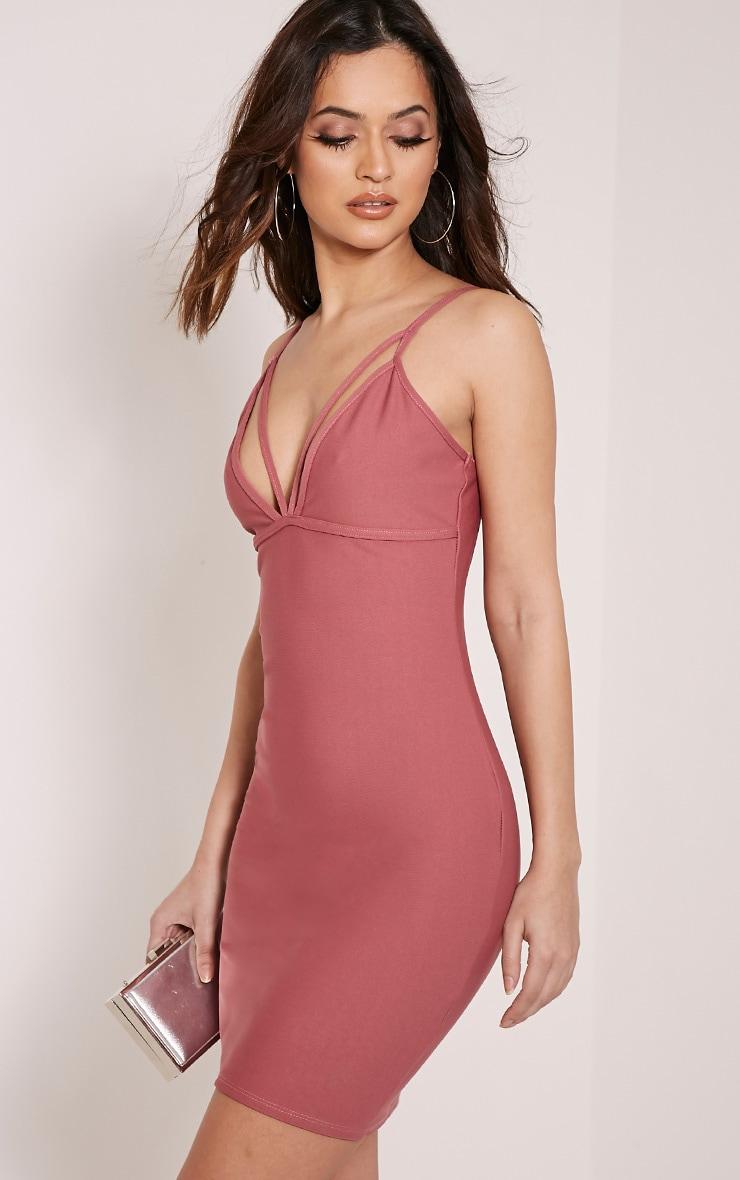 Carolina Rose Double Strap Bodycon Dress 4