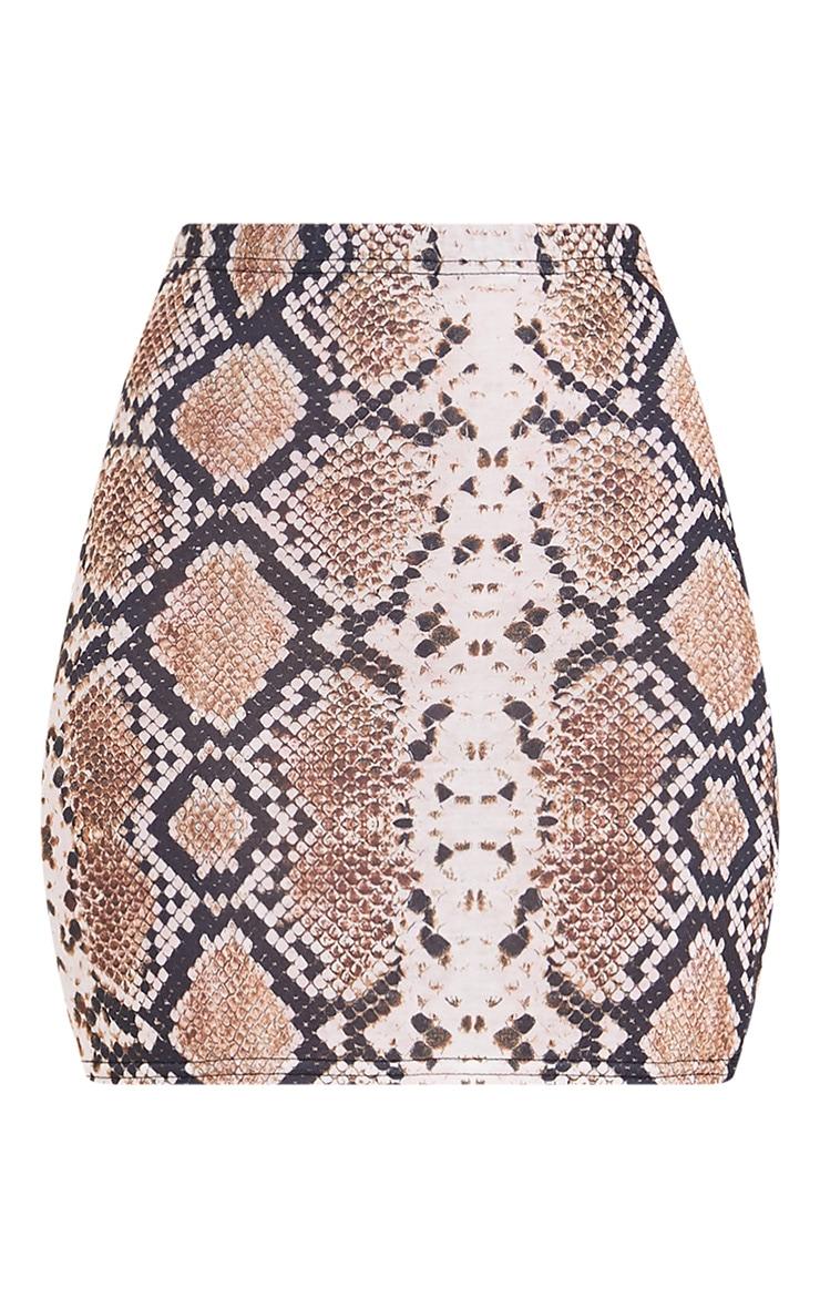 Cloressa Snake Print Mini Skirt 3
