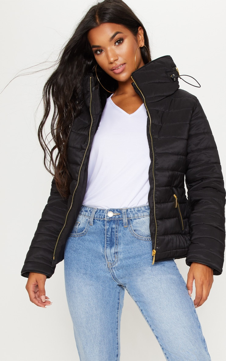 Mara Black Puffer Jacket 1