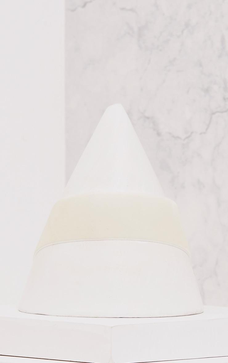Maxime Cream Velvet Lace Up Choker 3