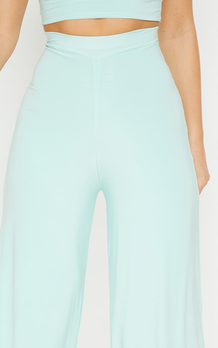 Mint Slinky Detail Wide Leg Trouser 5