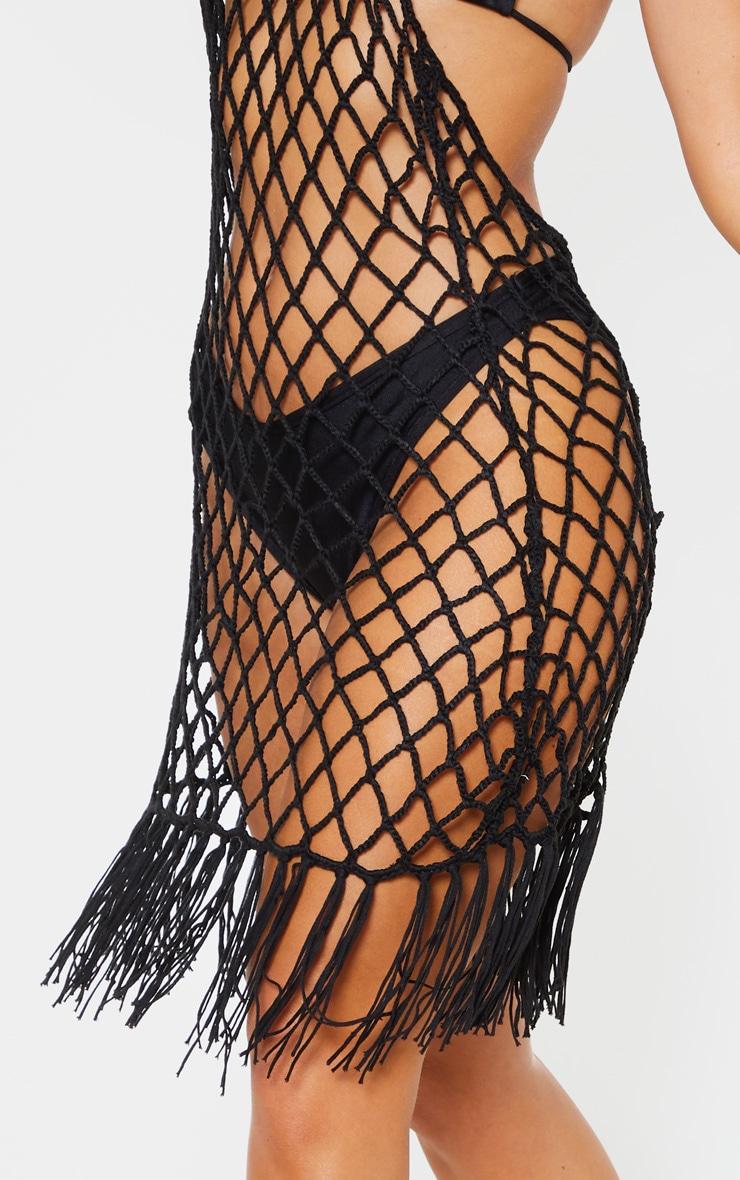 Black Crochet Coverup 5
