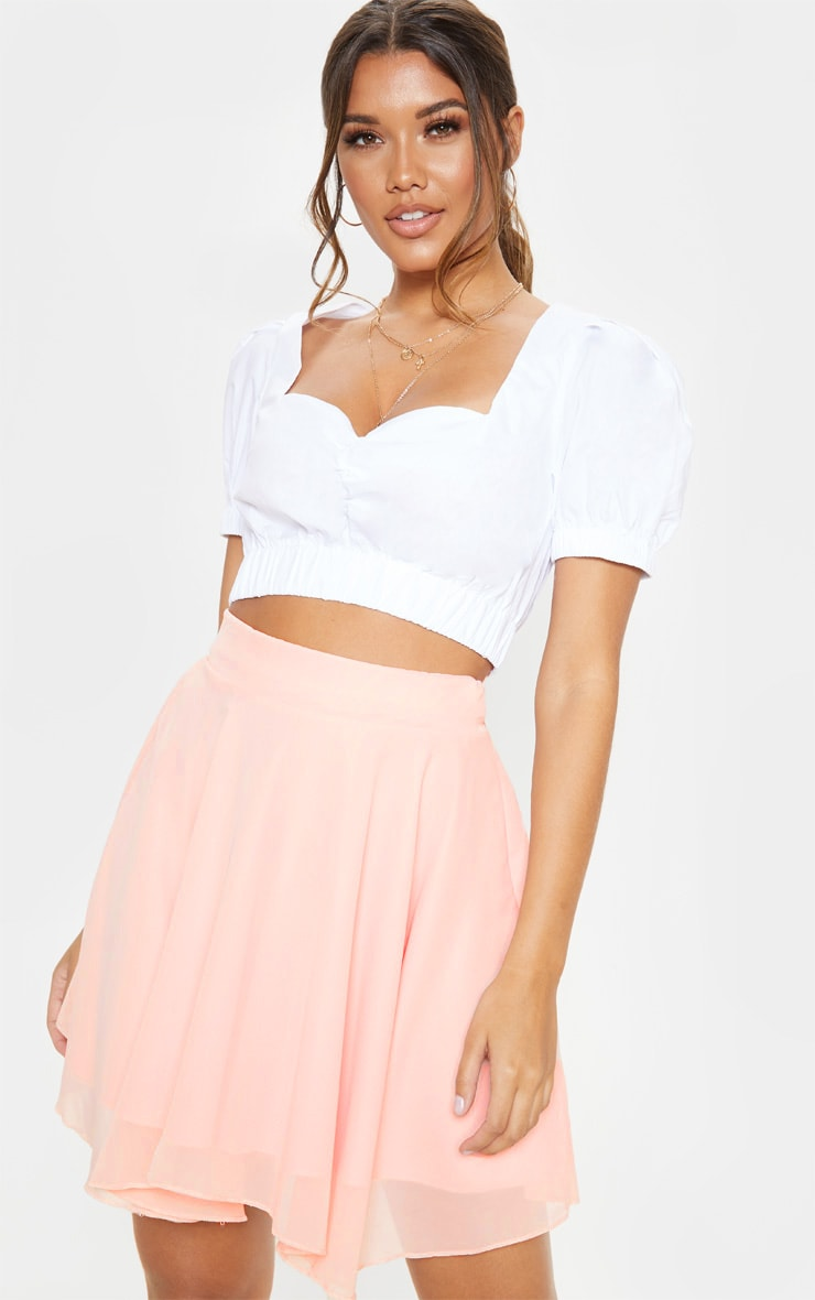 Dusty Pink Lightweight Woven Skater Skirt 1