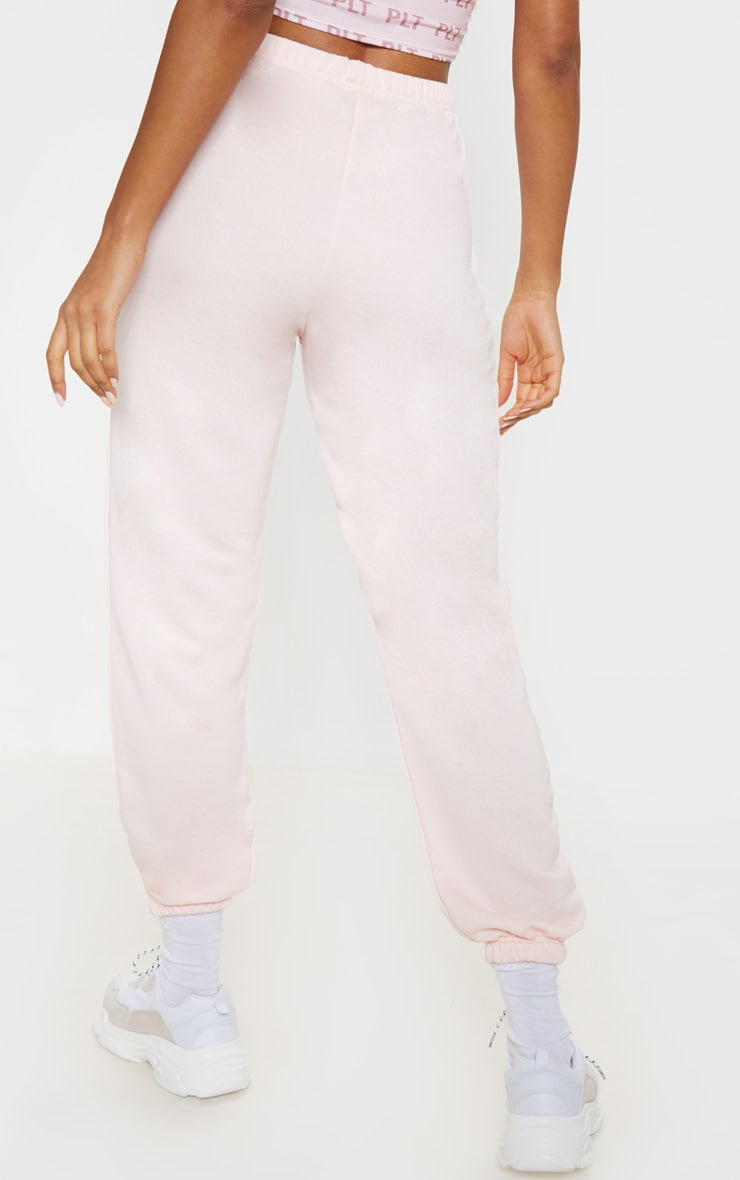Baby Pink Basic Cuffed Hem Jogger 4