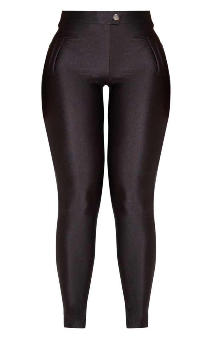 Black Disco Split Hem Skinny Trouser  3