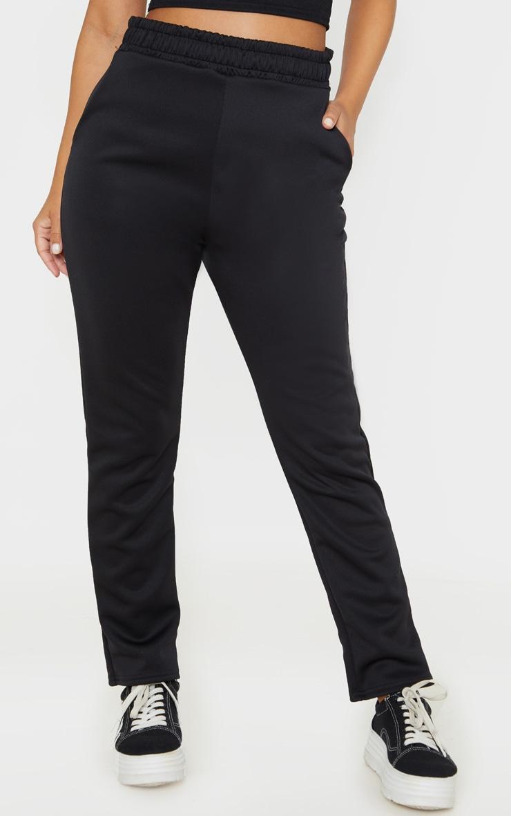 Petite Black Ruched Waist Pants  2