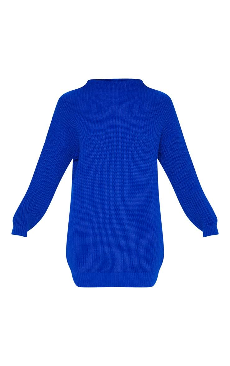 Cobalt Oversized Knit Dress  3