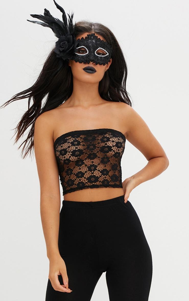 Black Lace Bandeau  1