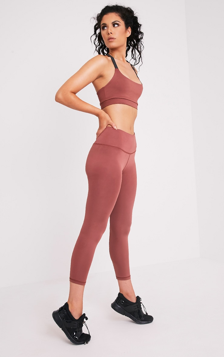 Brooke leggings de gym rose pâle 1
