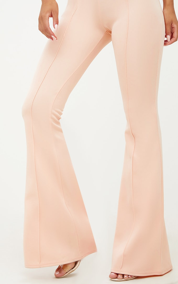 Nude High Waist Extreme Flare Long Leg Trousers 6