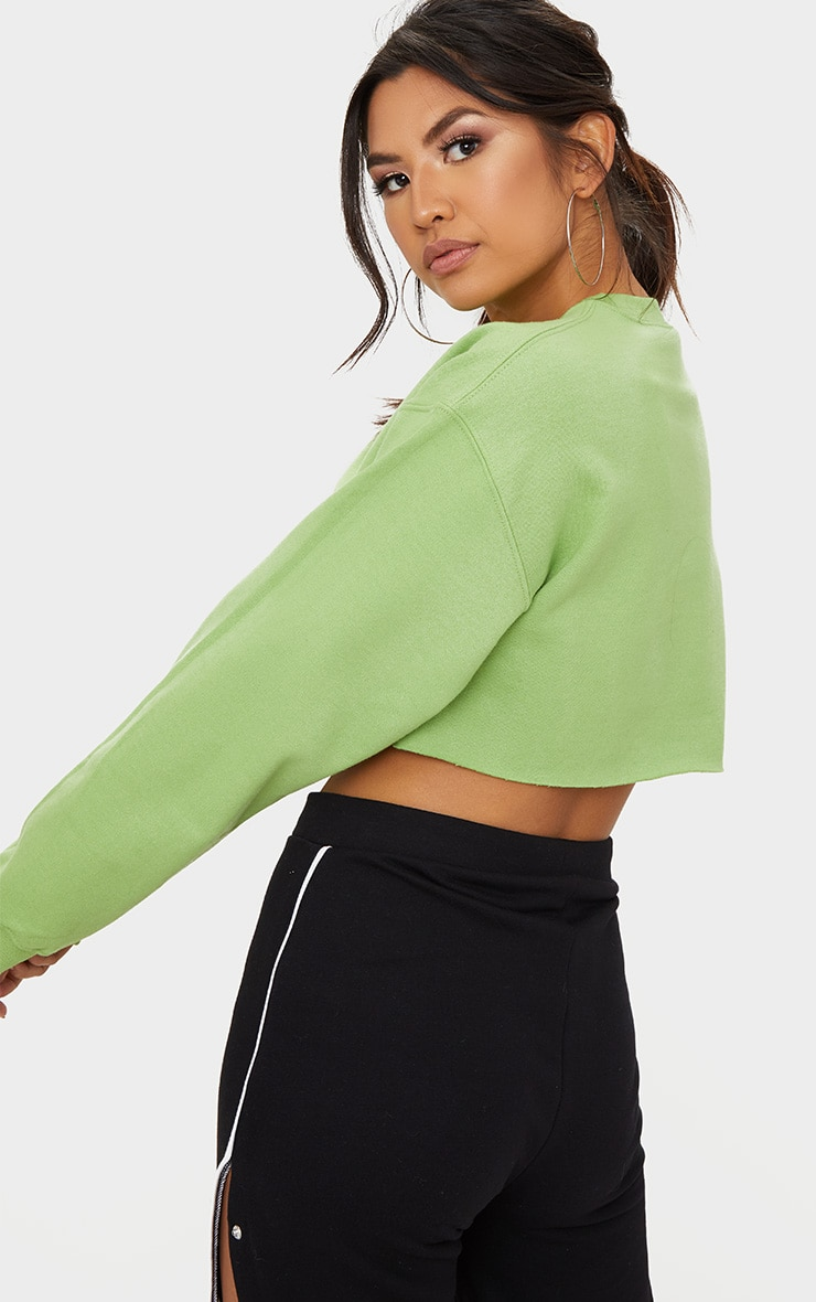 Green Ultimate Cropped Sweater 2