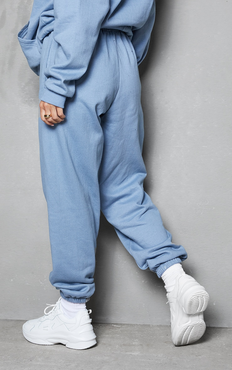 PRETTYLITTLETHING Blue Steel Embroidered Slogan Joggers 3
