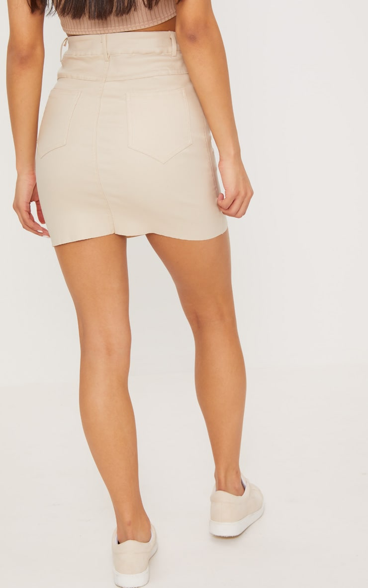 Stone Coated Denim Skirt 4