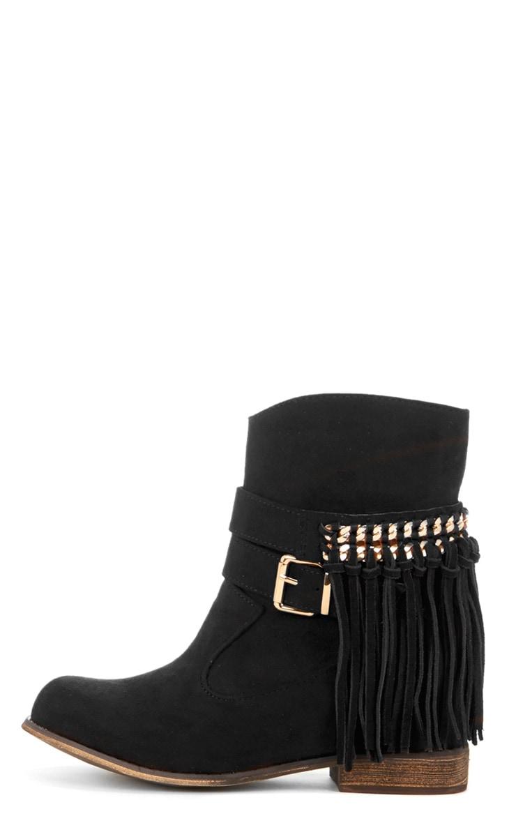 Trixie Black Tassel Boots  1