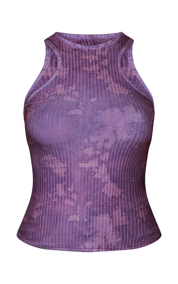Purple Acid Wash Rib Racer Vest 5