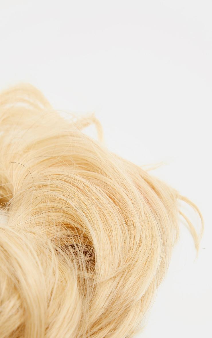 LullaBellz Premium Messy Bun Hair Up Scrunchie Light Blonde 6