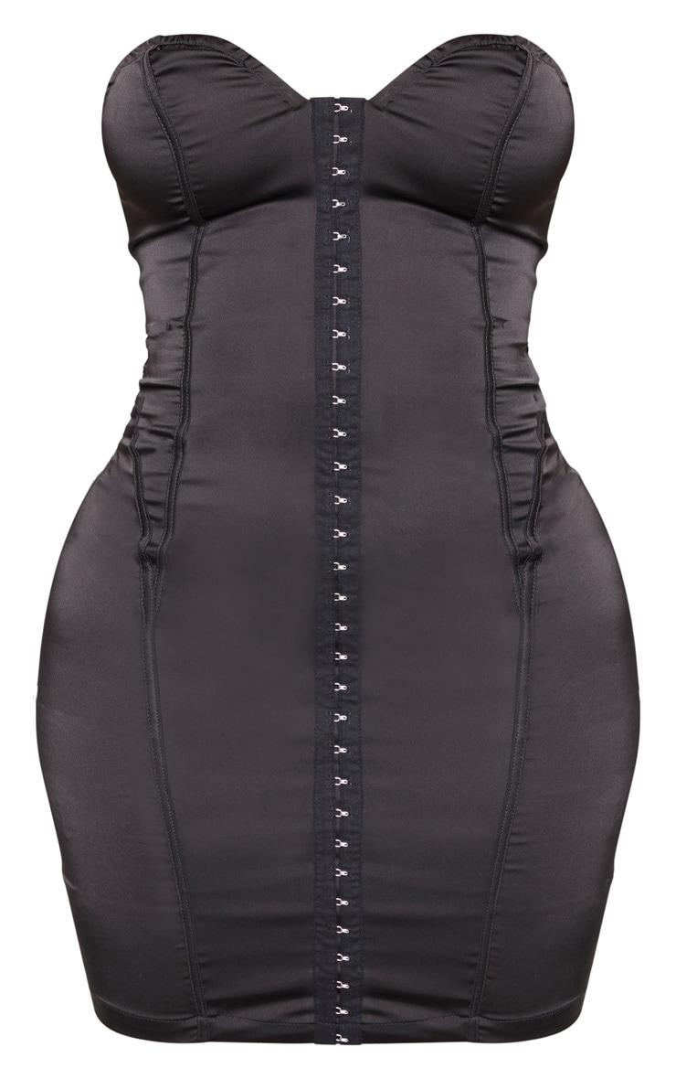 Shape Black Sweetheart Hook And Eye Bodycon Dress 3