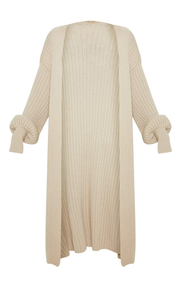 Stone Ribbed Knitted Midi Cardigan 3