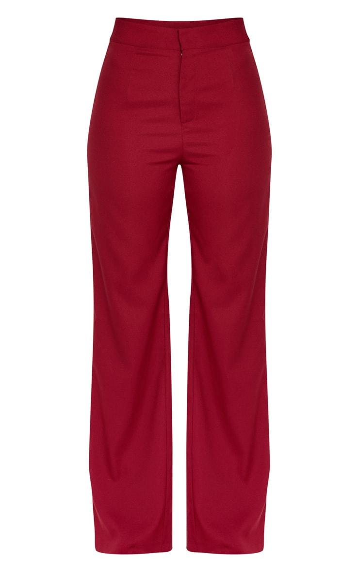 Pantalon ample bordeaux 3
