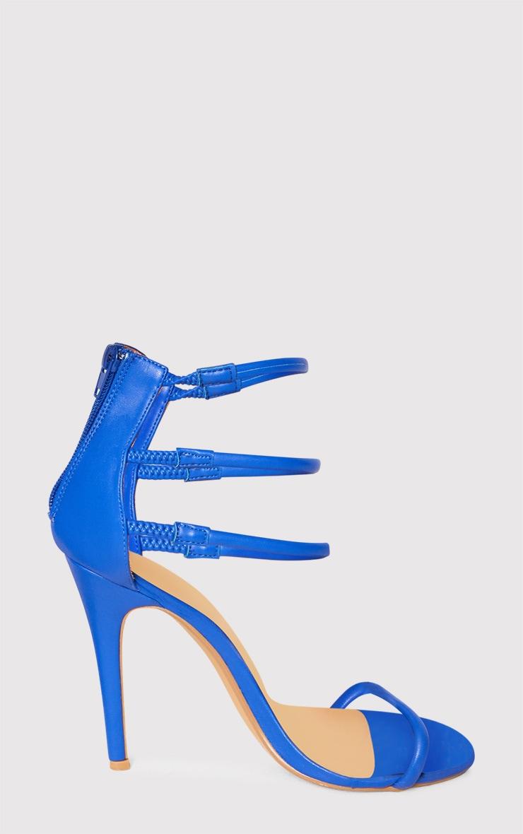 Cobalt Strappy Heeled Sandals 3