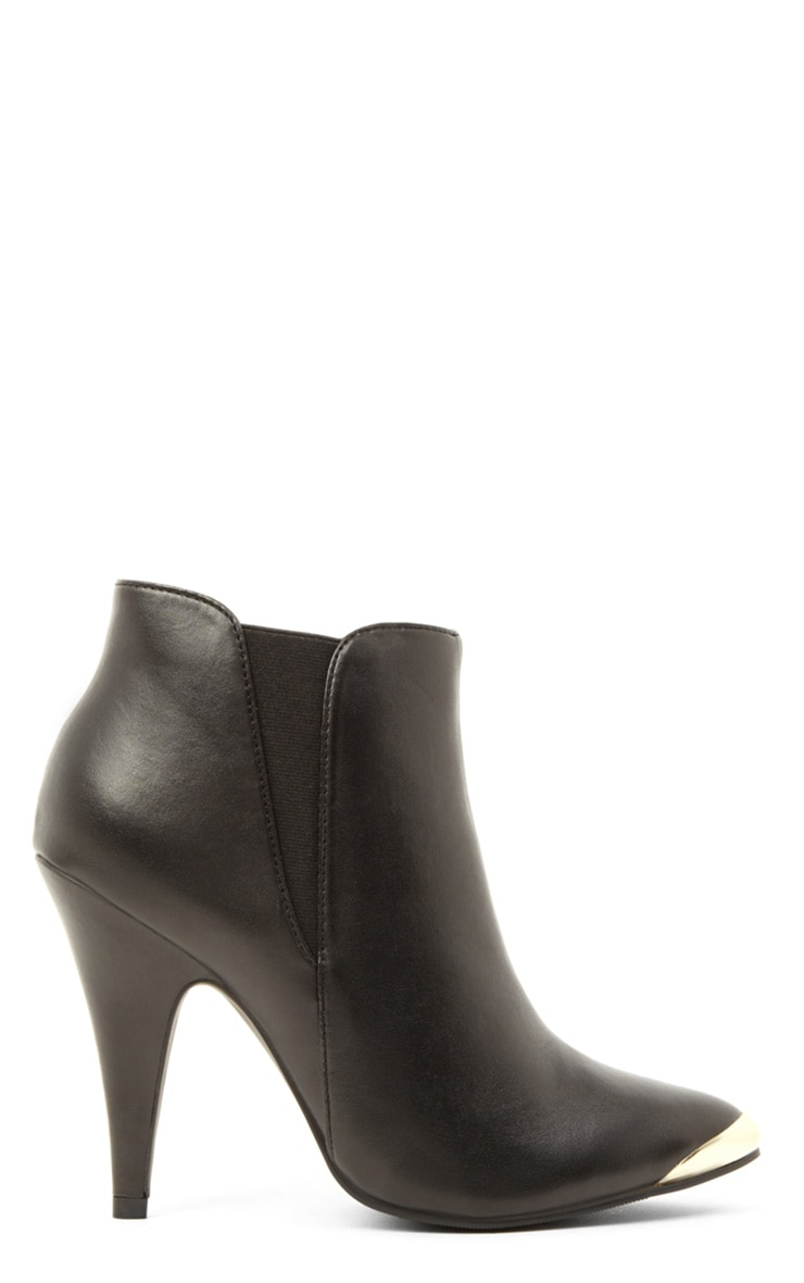 Anastasia Black Leather Ankle Boots 2