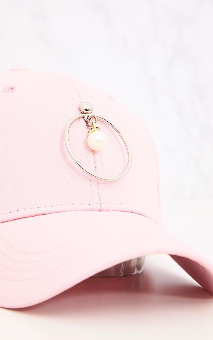 Pink Ring & Pearl Detail Cap 5