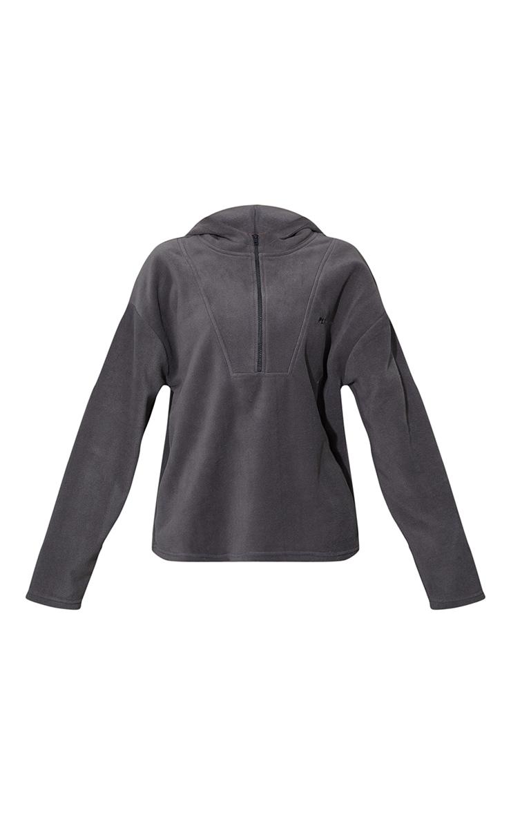 Charcoal Half Zip Hooded Fleece 5