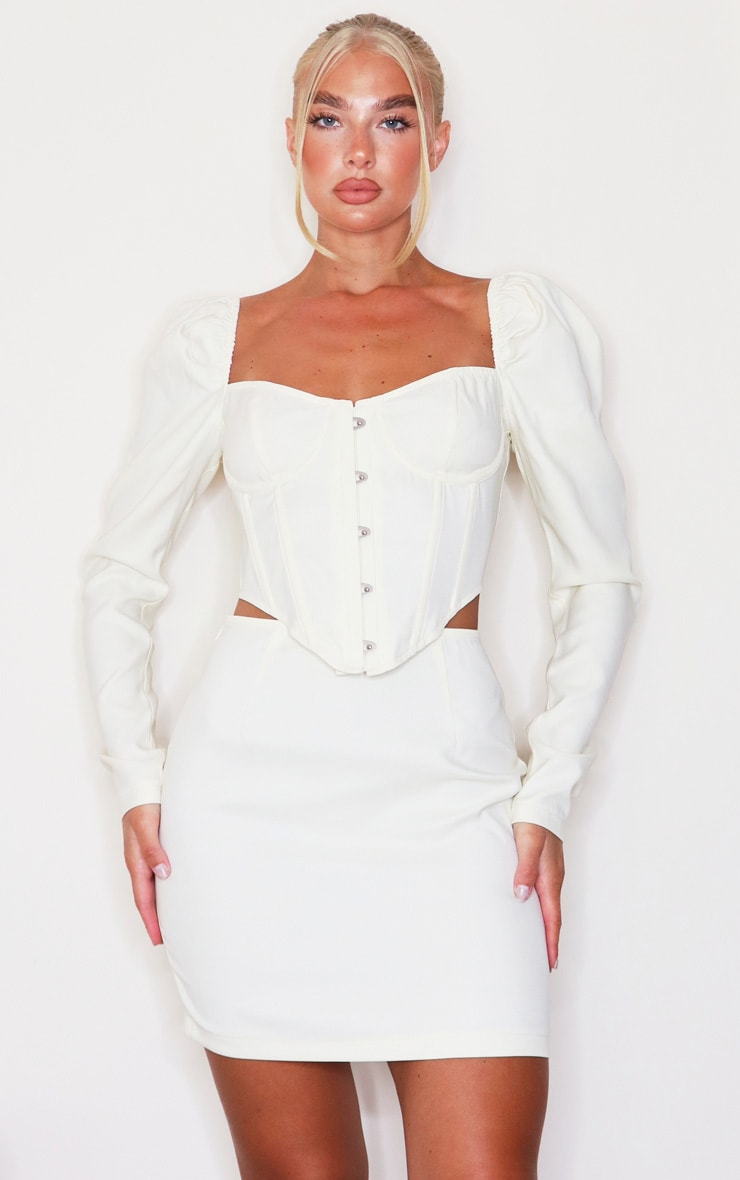 Cream Puff Long Sleeve Bust Cup Corset 1