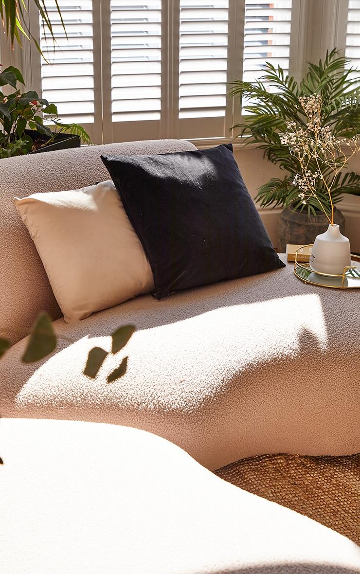 Black Large Velvet Filled Cushion 1