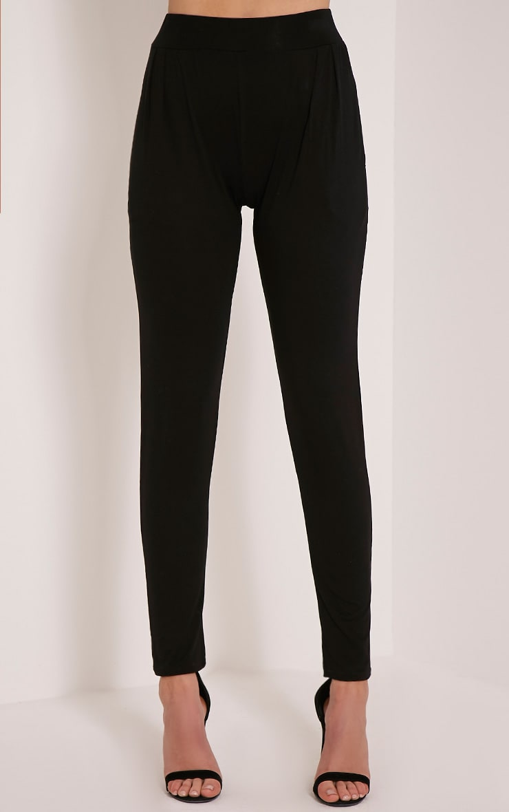 Rana Black Jersey High Waisted Joggers 2