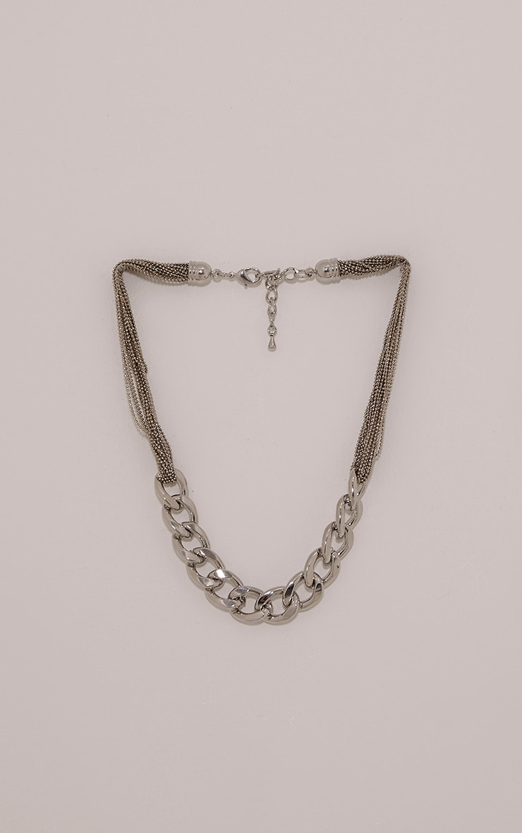 Lexi Silver Chain Link Necklace 4