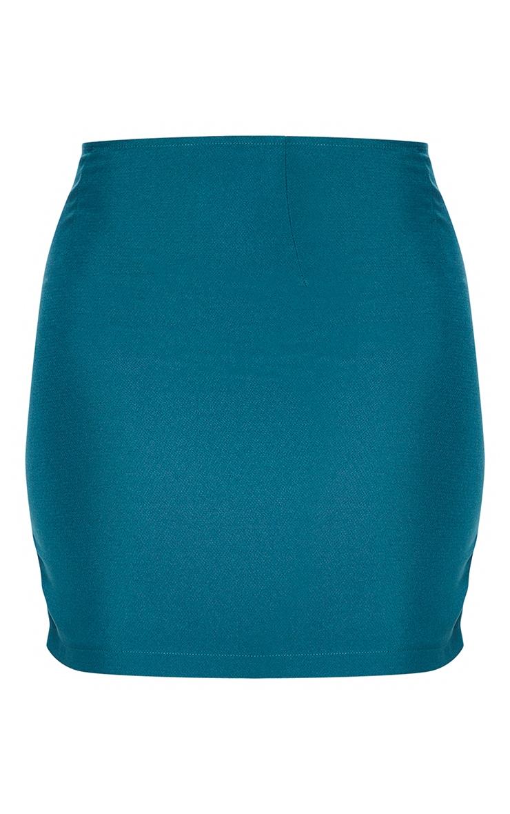 Bottle Green Woven Mini Skirt 6