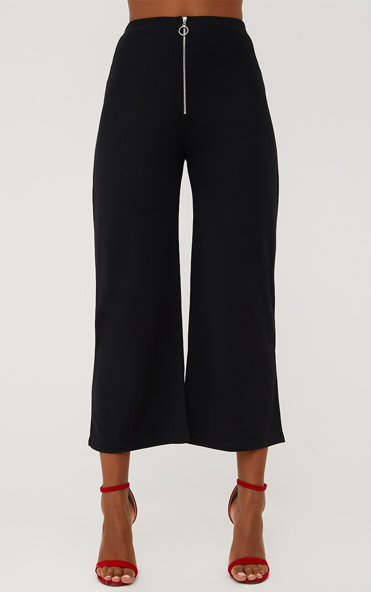 Black Ring Zip Culottes 2