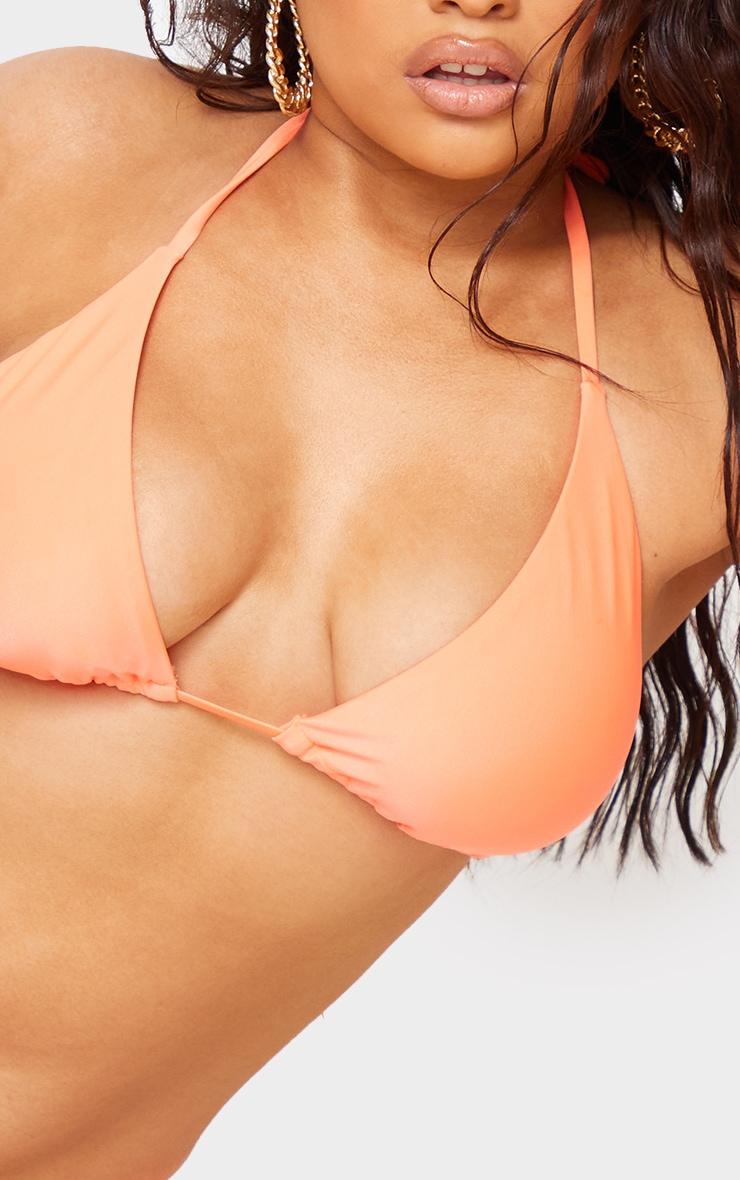 Recycled Plus Coral Mix & Match Triangle Bikini Top 4