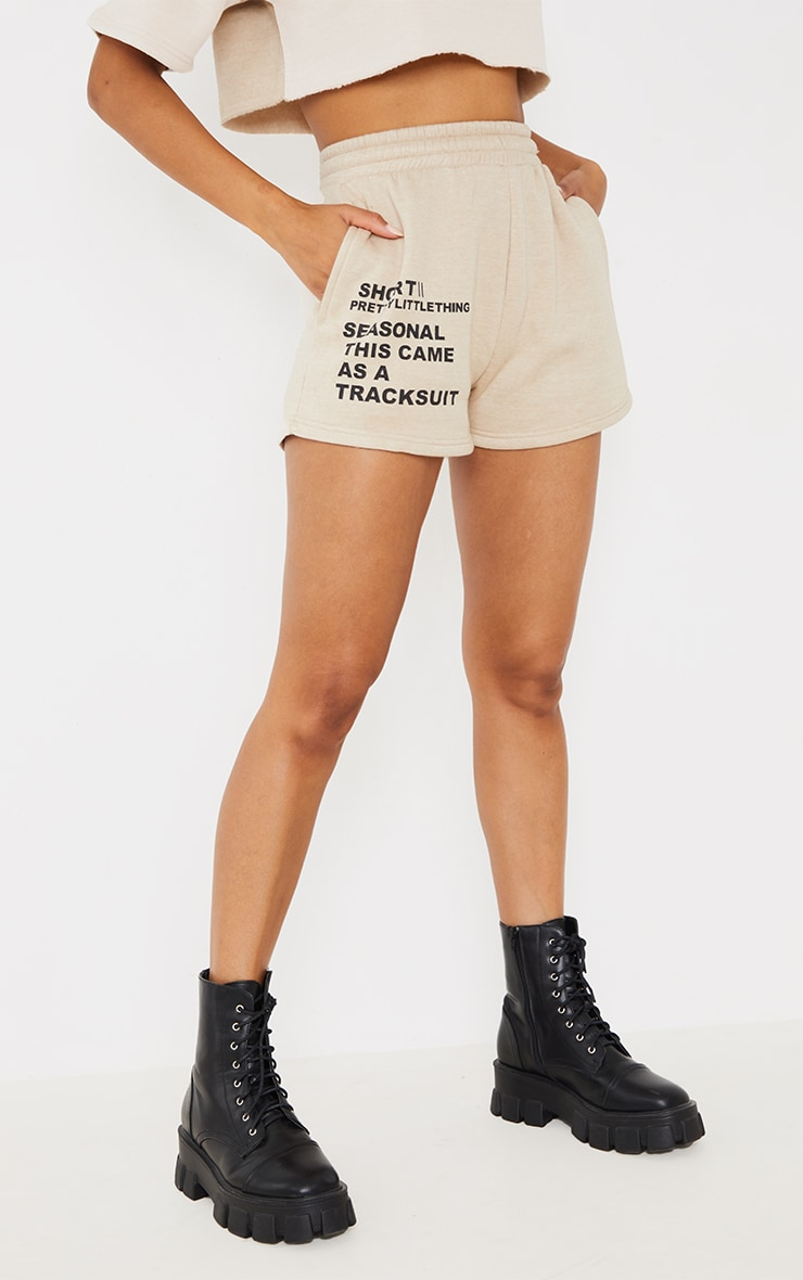 PRETTYLITTLETHING Recycled Stone Printed Sweat Shorts 2