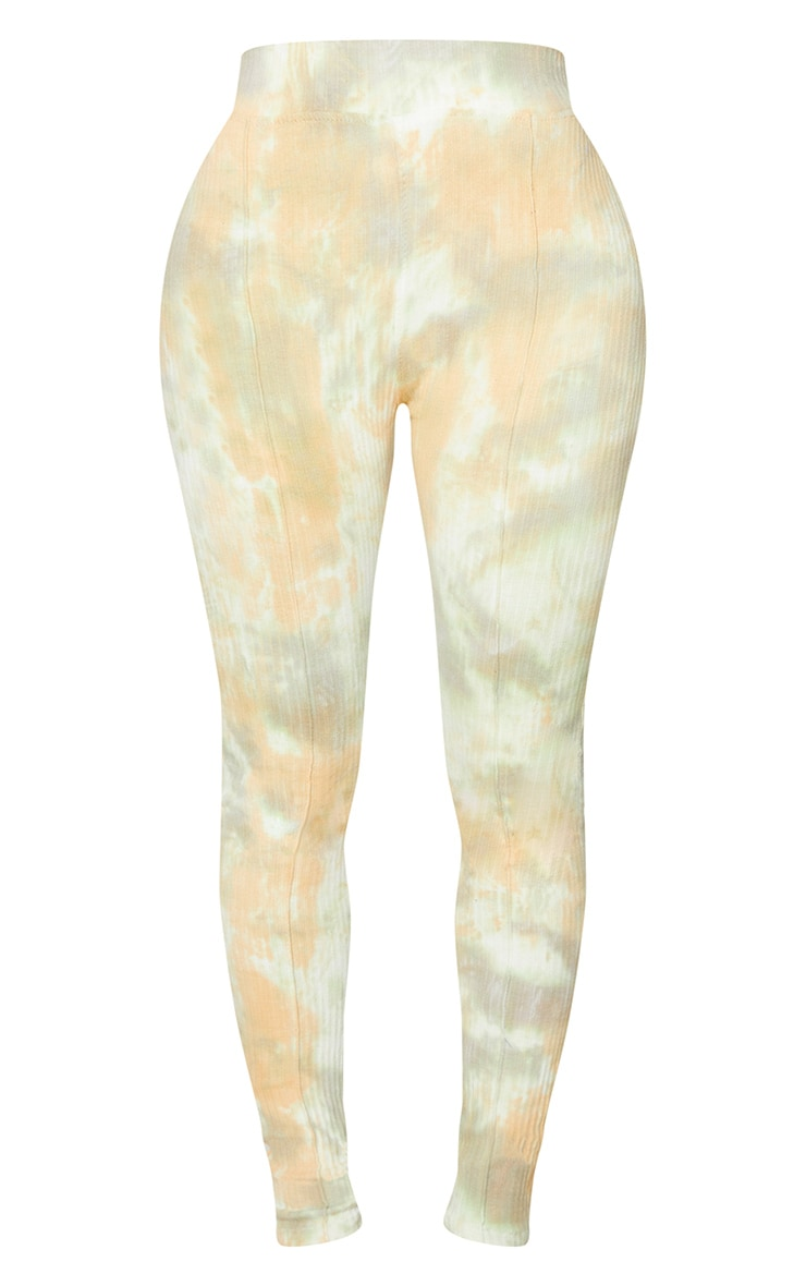 Shape Sage Green Tie Dye Thick Rib Leggings 5