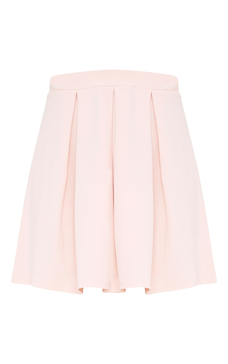 Rosabela Blush Box Pleat Skater Mini Skirt  3