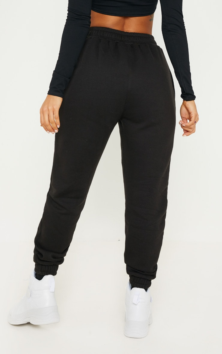 Black Popper Front Track Pants 4