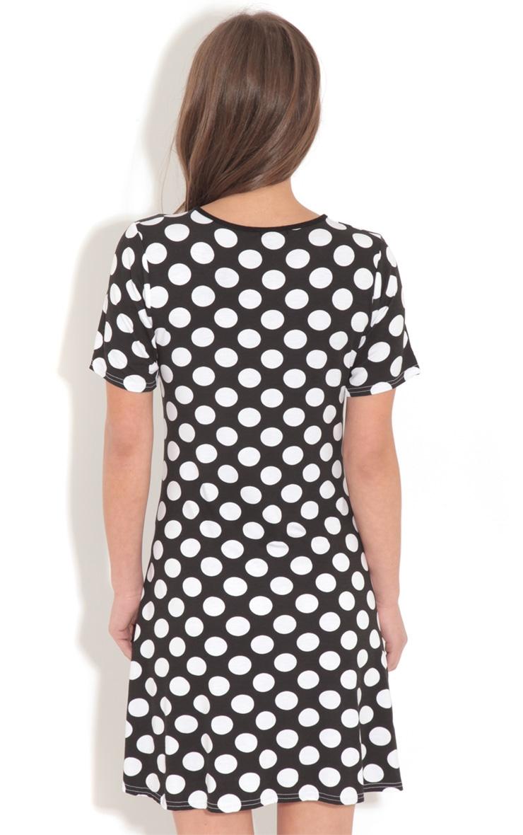 Ruth Black Spot Swing Dress 2