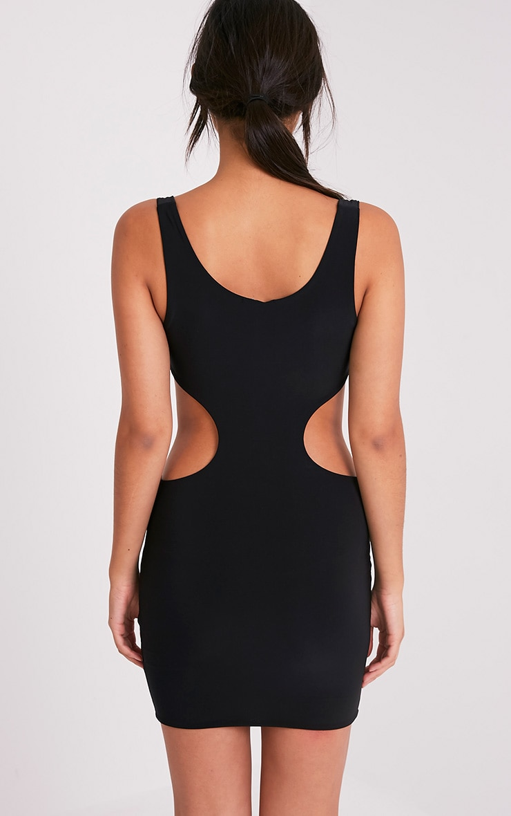 Kammy Black Extreme Cut Out Bodycon Dress 2