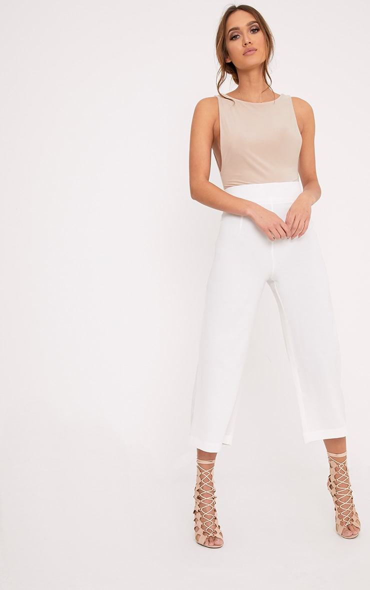Tazmin White High Waisted Culottes 1