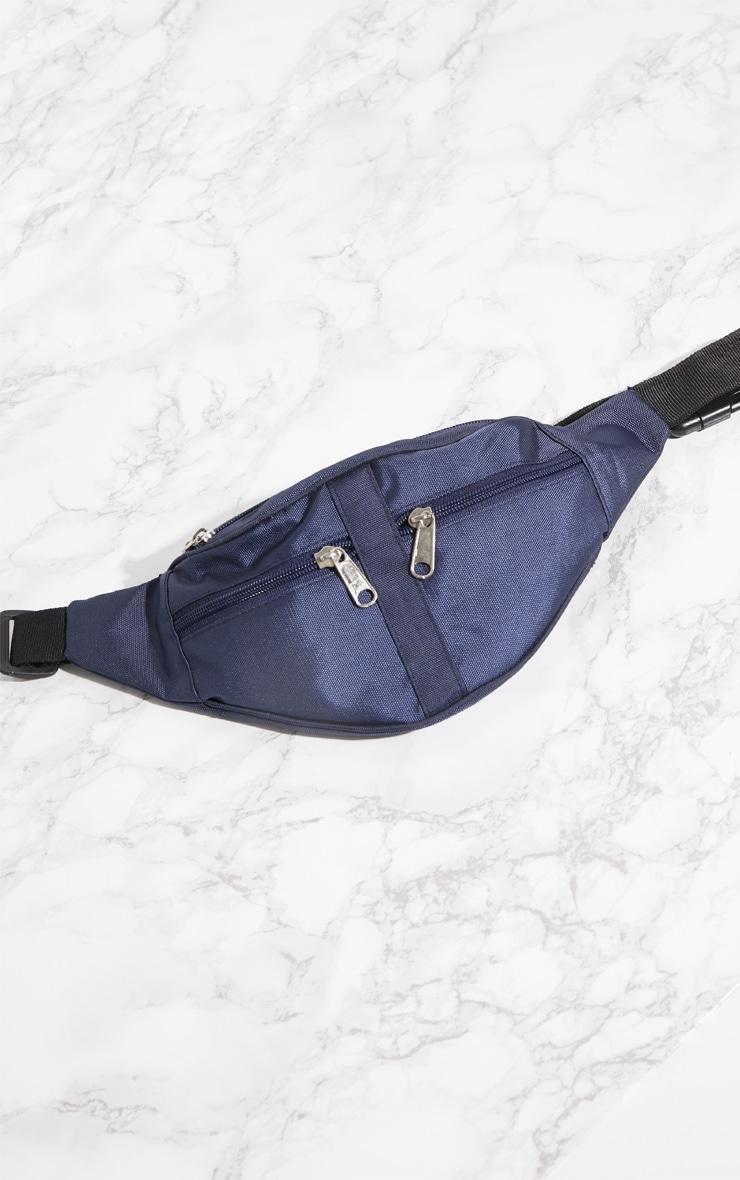 Navy Double Zip Bum Bag 4