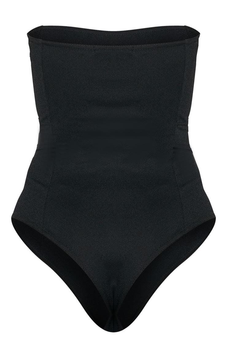 Black Crepe Bandeau Bodysuit 4